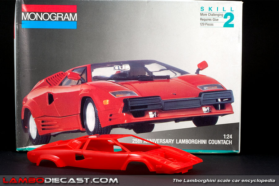 the 1 24 lamborghini countach 25th anniversary from monogram a review by. Black Bedroom Furniture Sets. Home Design Ideas