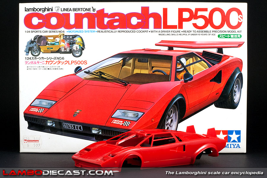 the 1 24 lamborghini countach lp500s from tamiya a review by. Black Bedroom Furniture Sets. Home Design Ideas