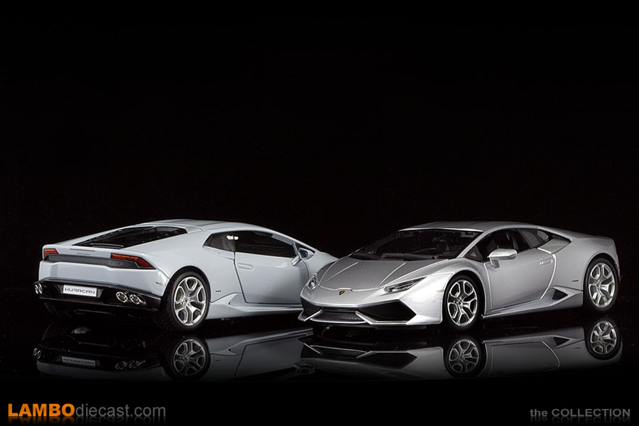silver and white metallic next to each other - Lamborghini Huracan Silver
