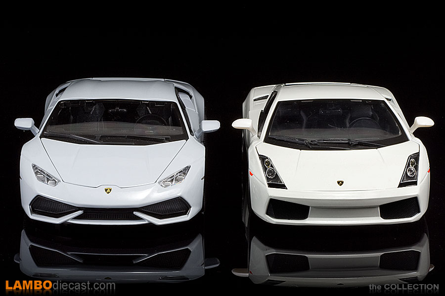 Full Front View Of The Huracan And The Gallardo