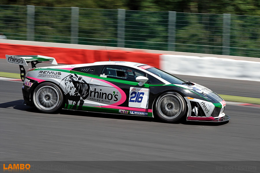 The real Gallardo GT3 nr 216 during the 2007 edition of the 24h de Spa