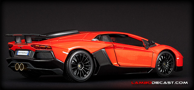 The 1 18 Lamborghini Aventador Super Veloce From Bburago