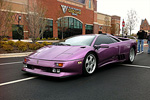 A photo of a real Lamborghini Diablo SE30 Jota in 30th Anniversary Lavendar
