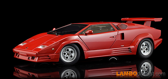 The 1 18 Lamborghini Countach 25th Anniversary From Autoart A
