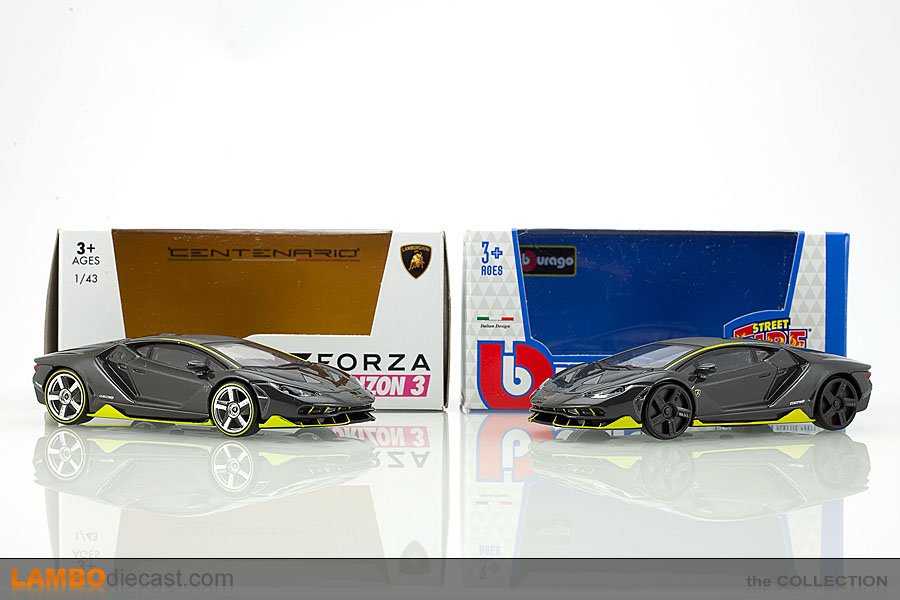 Yellow 1:43 Model BBURAGO Lamborghini Centenario Lp 770-4 2016 Carbo